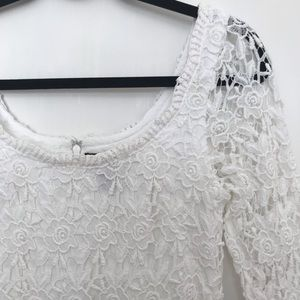WHBM White Embroidery Dress